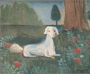 『犬のいる風景』 油彩20.0×25.0cm 1923年頃