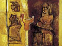 《鳥と琴を弾く埴輪》 1957年